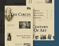 The Circus Website Design