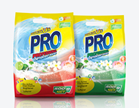 Pro detergent packaging and label designs