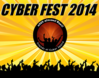 Web adverts for Cyber fest 2014