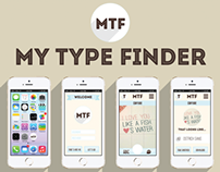 MY TYPE FINDER app design