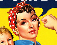 Rosie Riviter homage.