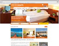 Hotel Margaréta weboldal tervezés