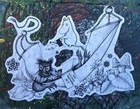 Moomin street art