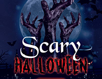Scary Halloween - Free PSD Flyer Template
