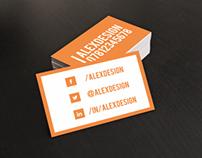 Simplicity Orange Business Card