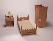 """Childrens bedroom furniture """"Medieval"""""""