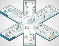 Isometric Hospital Illustration