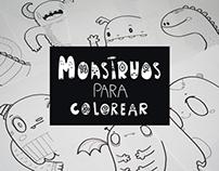 Monstruos para colorear