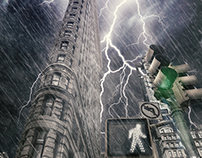 Flat Iron under storm