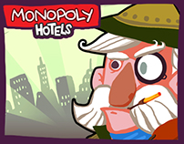Monopoly Hotels character concepts
