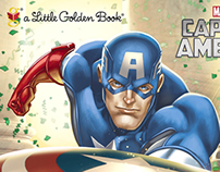 Captain America Little Golden Book art