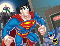 "DC Super Friends ""X-Ray Vision"" Book Art"