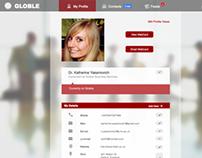 Globle Web Client Profile Page