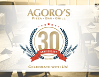 Web Banners: Agoro's Pizza Bar & Grill