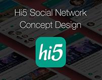 Hi5 Social Networking App Concept Design