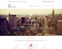 Andro - One Page Responsive Creative PSD Template