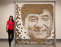 Jackie Chan chopsticks portrait by RED hongyi