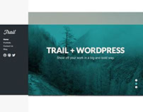 Trail WordPress Full Screen Parallax Scrolling Theme