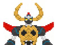 Super Robot Pixel Art