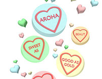 Kiwi Conversation Hearts