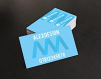 Blue Spiral Business Card