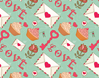 Cute love spring patterns and illustrations.