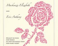 Purple Rose Invitation
