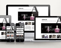Armani responsive website design