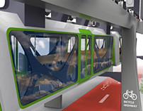 Skytram X Bicycle Highway Concept