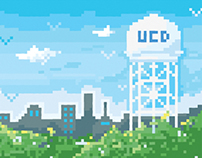 8 Bit Pixel Art of UC Davis