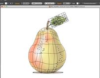 Création d'une poire en filet de dégradé