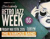 Retro Jazz Week Flyer Template