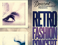 Retro Fashion Concert Flyer Template