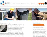 Website for Cassidy Heating & Air