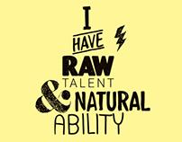 Raw Talent campaign
