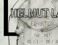 Helmut Lang FAKE exhibition poster