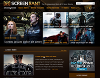 Web Design for Screen Rant