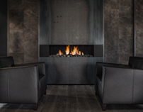 Fireplace in businessroom (Boley open Fireplaces)