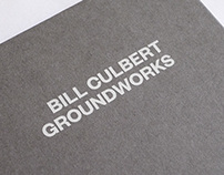 Bill Culbert: Groundworks – book design