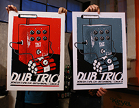 Dub Trio (London) Silkscreen Poster