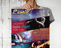 Flyer Exotik cafe - Australia