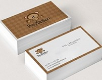 Pee Ka Boo logo, business card and stamp