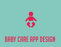 A Baby Care App Design