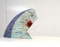 Expecting - Glass sculpture