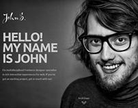 John - One Page Joomla Portfolio Template