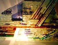 Piramide quebrada  - Glass sculpture