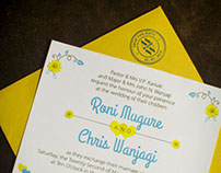 M&W Wedding Invite
