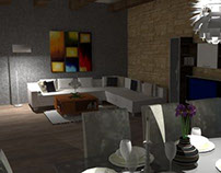 Rendering-livingroom/interiour.