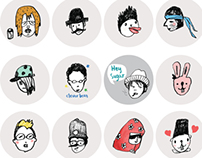 Party Faces_ Line stickers
