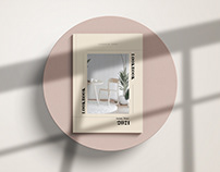Trendy Minimalist Furniture Lookbook Design